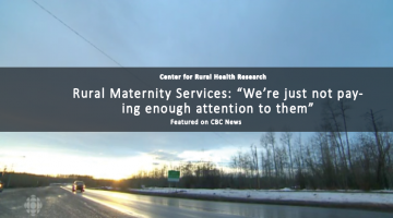 "Rural Maternity Services: ""We're just not paying enough attention to them"""