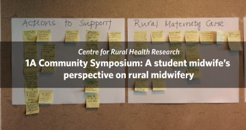 1A Community Symposium: A student midwife's perspective on rural midwifery