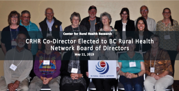 CRHR Co-Director, Jude Kornelsen, Elected to B.C. Rural Health Network Board of Directors