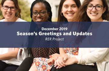 Season's Greetings! An Update from the Rural Evidence Review Team