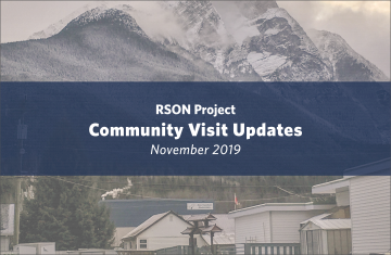 RSON Field Visit Updates November 2019